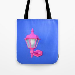 Pink Lamp Retro Tote Bag