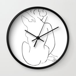 Nude Sketch by Henri Matisse Wall Clock