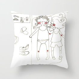 Summer Vacation II Throw Pillow