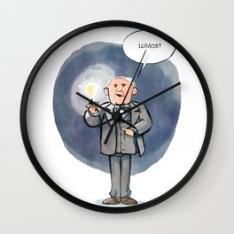 Thomas Edison - Lumos! Wall Clock
