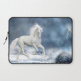 White Unicorn Laptop Sleeve