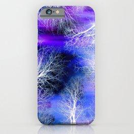 Midnight Trees Purple Blue iPhone Case
