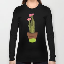 Green Pot Cactus Long Sleeve T-shirt