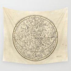 Vintage Celestial Map Wall Tapestry