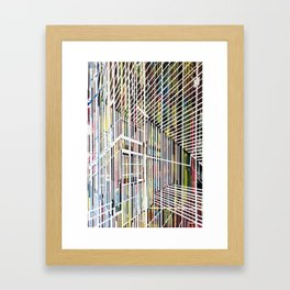 Lines 4 Framed Art Print