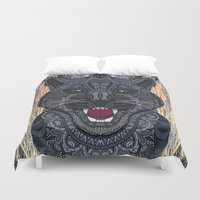 panther Duvet Covers featuring Panther by ArtLovePassion