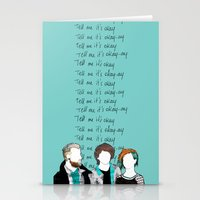 paramore Stationery Cards featuring Tell me it's okay by Marconte