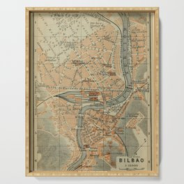 Vintage Bilbao Spain Map (1913) Serving Tray