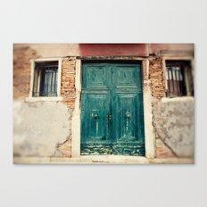 Turquoise Door in Venice Canvas Print