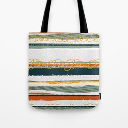 Green and Gold Tote Bag
