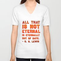 eternal sunshine V-neck T-shirts featuring Eternal by Peter Gross