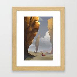 Yellow Pillars Framed Art Print