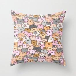 Pigs, Piglets & A Swine! Throw Pillow