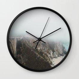 Bixby Bridge in the Fog Wall Clock