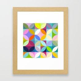 mid century geometry Framed Art Print
