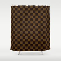 lv Shower Curtains featuring LV by ''CVogiatzi.