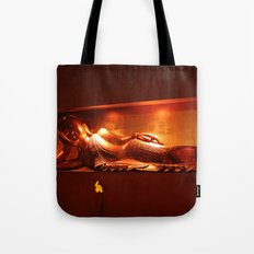 golden buddha, reclining Tote Bag