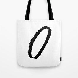 Letter O Ink Monogram Tote Bag