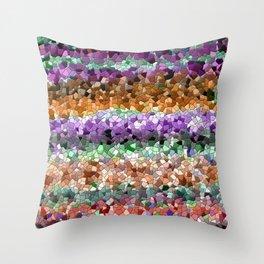 Mosaic Layered Flower Garden Throw Pillow