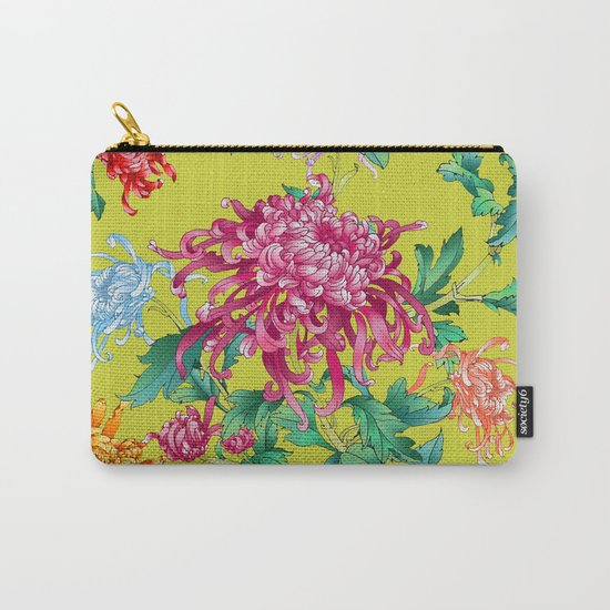 Oriental Flowers Carry-All Pouch