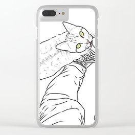 Everything I know I learned from my cat Clear iPhone Case