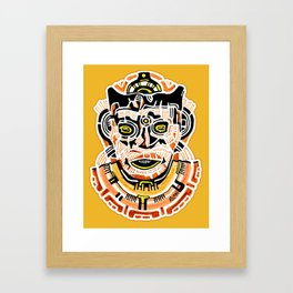 Ancient Mask Framed Art Print