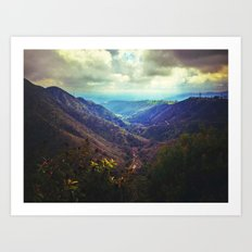 Upon the hill Art Print