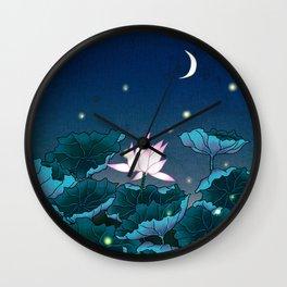 Minhwa: Lotus Pond at Night D Type Wall Clock