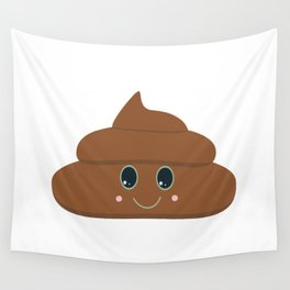 Happy poo Wall Tapestry