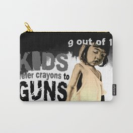 KIDS prefer crayons - black version Carry-All Pouch