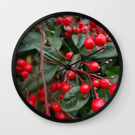 Winter Berries 8x12 Wall Clock