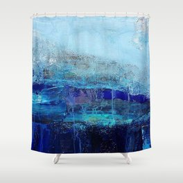 Azure - Mixed Media Acrylic Abstract Modern Art, 2009 Shower Curtain