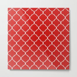 Quatrefoil - Candy Metal Print
