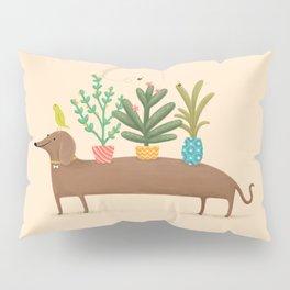 Dachshund & Parrot Pillow Sham