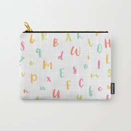 A to Z • Whimsical Crayon Alphabet Pattern Carry-All Pouch