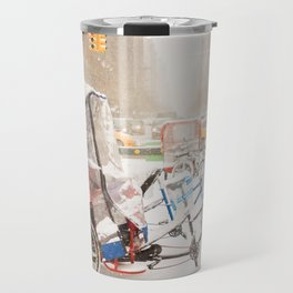 NYC Snow Day on Central Park West Travel Mug