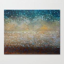 Landscape Dots - Turquoise Canvas Print