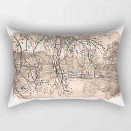Rome, River Tevere - Watercolor Rectangular Pillow