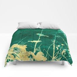 Yellow Birds on Vine Comforters