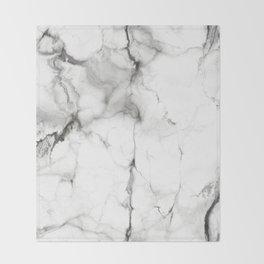 White Marble Throw Blanket