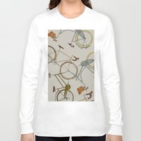 bicycles Long Sleeve T-shirts featuring bicycles by Golden Boy