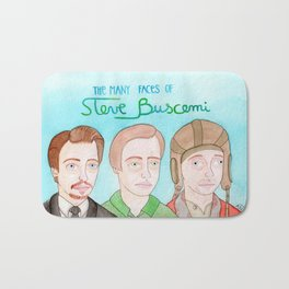 The many faces of Steve Buscemi Bath Mat