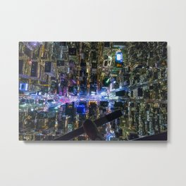 Up Over Times Square Metal Print