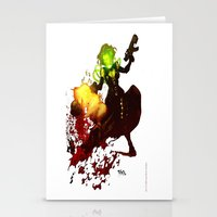 aquaman Stationery Cards featuring Anne Frankenstein AF2 by Lazy Bones Studios
