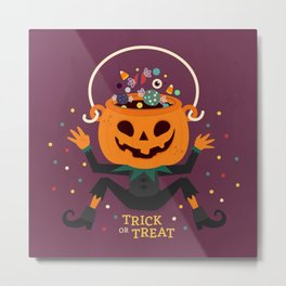 Trick or Treat Metal Print