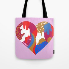 Drippy Heart Tote Bag