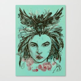 Crow queen Canvas Print