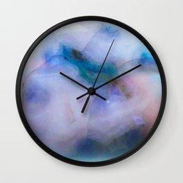 Rainbow Lace Agate Stone Wall Clock