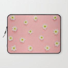 Flowers on Pink Laptop Sleeve