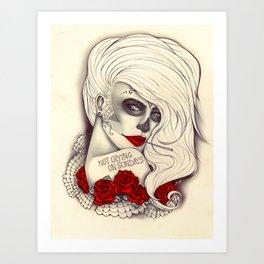 Not crying on sundays Art Print